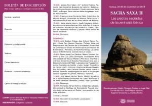 Sacra Saxa II. Las piedras sagradas de la península ibérica